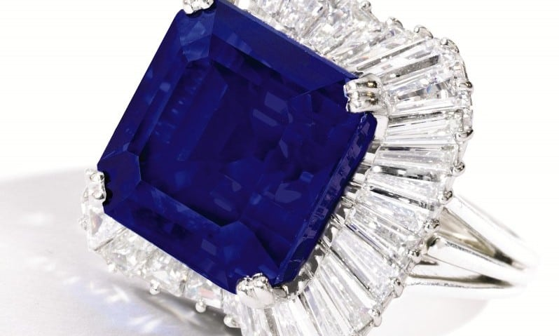 Sotheby's achieves record per-carat price for sapphire ...